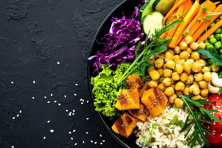 Multicoloured Healthy Salad